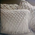 White Macrame Cushion Pillow, Size: 45*45cm, Packaging Type: Packet, Bag