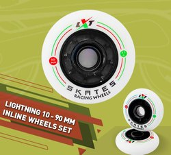 Lightning 10 - 90 mm Inline Wheel Set