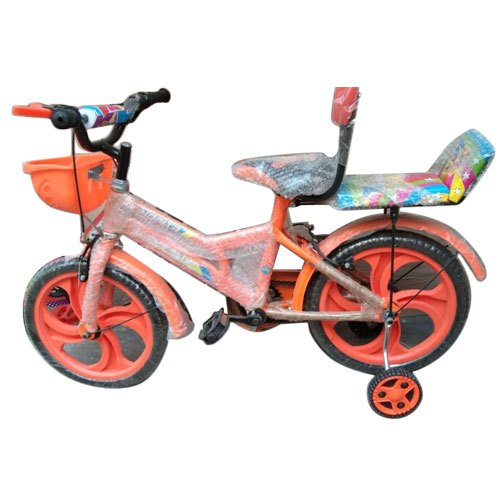 Plastic and Rubber Orange Kids Cycle