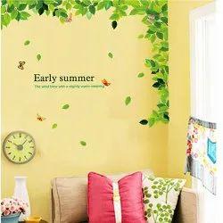 PVC Wall Decor Early Summer Sticker 60 X 90