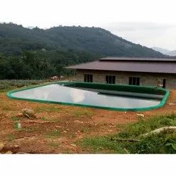 3 layer materials Offline Large Artificial Rain Pond Construction