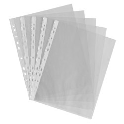 White Transparent L File Folder for Office, Paper Size: A4