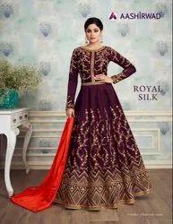 Royal Silk By Aashirwad  ( Gown )