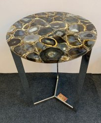 Black agate table