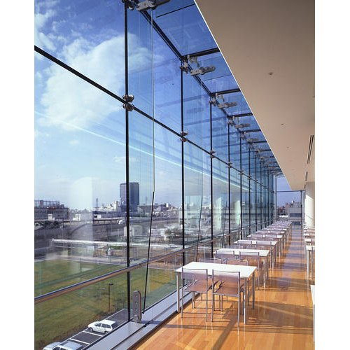 Transparent Saint Gobain Toughened Glass, Packaging Type: Box, Shape: Flat