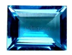 Swiss Blue Topaz Faceted Baguette Gemstone