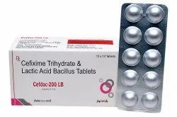 Cefixime 200 mg With Lactic acid Tab