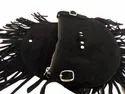 Fringed Suede Leather Teenager''s Sling Bag
