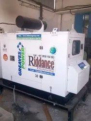 30 KVA Greaves Power Diesel Generator, 3-Phase