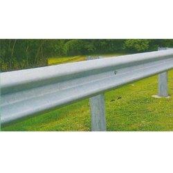 W Beam Crash Barrier Installation