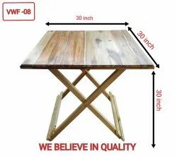 Natural Rectangular Foldable Teak Wood Table
