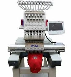 RVM Single Head Computer Embroidery Machine for Cap, Finished Garments, Shoes and Bag