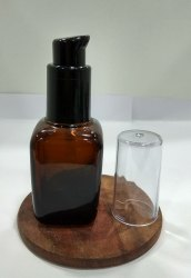 20 ML Square Amber Bottle with Lotion Pump