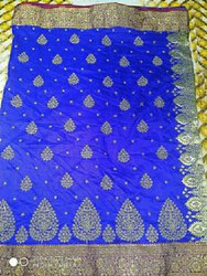 Embroidery Polyester Saree, 6.5 M (with Blouse Piece)