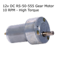 12v DC RS-50-555 Gear / Geared Motor 10 RPM - High Torque