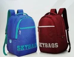 Skybags Red & Blue Campus Plus 01 Backpack