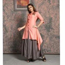 Stand Collar Plain Designer Top and Bottom Wear, Handwash, Size: Mtoxxl