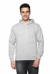 Solid Hooded Men Sweatshirt
