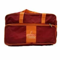 Brown PVC Coated Nylon Red Promotional Travel Bag, Capacity: 10kg, Size/Dimension: 20 X 12 X 9 Inch
