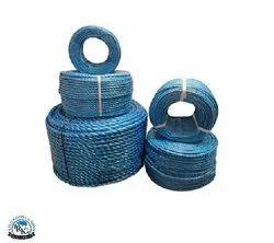 Polypropylene coloured blue rope