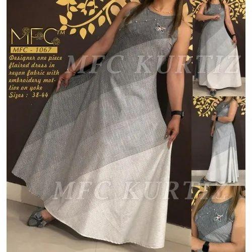 Mfc Party Wear Fancy One Piece Ladies Designer Dress Size 38 44 Rs 1000 Piece Id 20694314888
