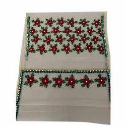 Cotton Ladies Traditional Aari Work Saree, 6.25 (with blouse piece)