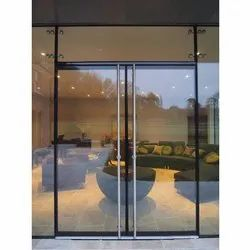 Hinged Plain Tempered Glass Door, Thickness: 6 Mm