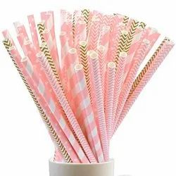 Disposable Printed Paper Straw
