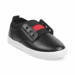 KTB546 Black Kids Lace Up Casual Shoes