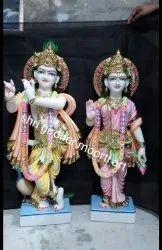 Indian Marble Radha Krishna Moorti