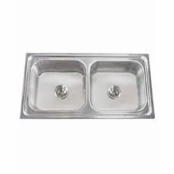 Silver Hindware Imperio Stainless Steel Sink, Thickness: 1mm