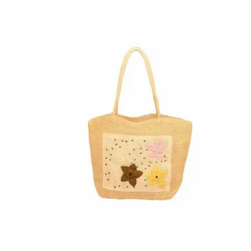 Jute Fab5 Straw Braid Bag (Hy08978) (Cream), Size: Medium