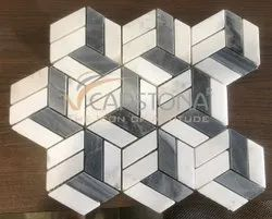 Stone Geometric Pattern Floor Tiles