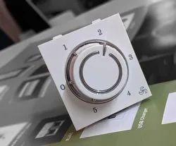 5 step 2m chrome fan regulator