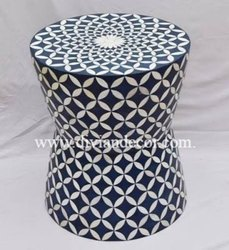 Pallet Drum Bone Inlay Table/ Stool / Side Table