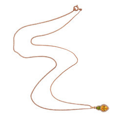 Gemco Designs 925 Sterling Silver Topaz Gemstone Necklaces Jewelry