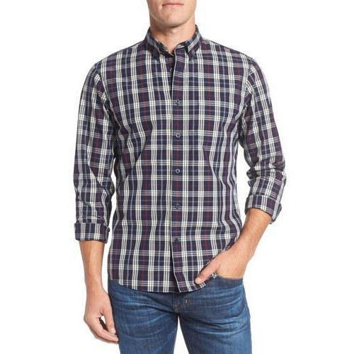 Men Casual Check Shirt