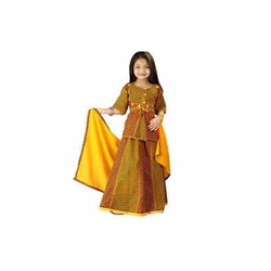 Kids Half Sleeves Lehenga Choli
