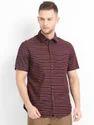 Maroon Half Sleeve Shirts For Men