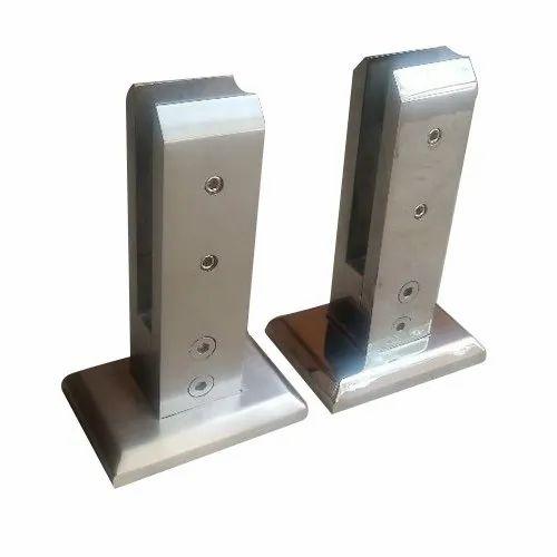 Standard Life On Glass Railing Spigot, Size: 40 X36mm, Grade: Ss 304