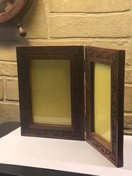 Natural Polished Wooden Photo Frame, Size: 6x4 Inches