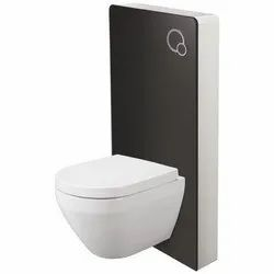 White Closed Front Somany Bastille Glass Cistern Toilet Seat