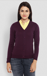 2eed886bc4 Park Avenue Woman Purple Regular Fit Sweater. Rs 839  Piece