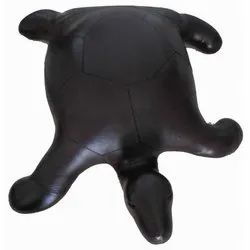 Black Shareef Arts Leather Foam Turtle Toy