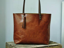 Techcraft Couture Tote Bag Brown Ladies Leather Bag