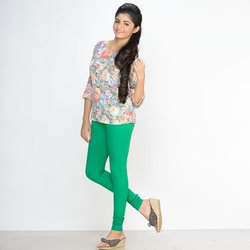 Cotton + Lycra Churidar Ladies Plain Legging, Size: Free