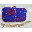 Designer Potli Bag Zardosi Hand Embroidered Silk Handbag