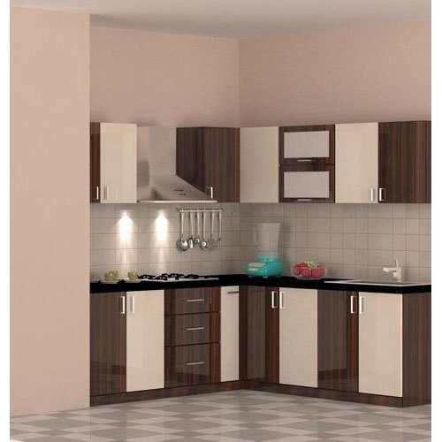 Wooden L Shape Italic Modular Kitchen Rs 850 Square Feet Jap Enterprises Id 13740782748