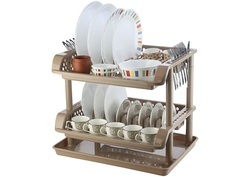 Plastic Dish Rack 2 Tier With Tray