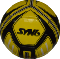 Syn6 Yellow With Black Soccer Ball - Ss4500, Size : 5